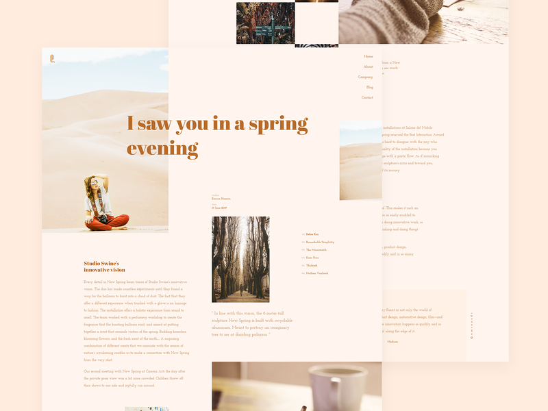 Blog Page Layout 002 typo debuts first layout blog ux responsive style simple minimal clean web ui typography trendy simple clean interface interface design