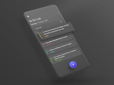 To-do List clean interface typography ux style minimal ui app dark mode dark ui dark app black design dailyui dark