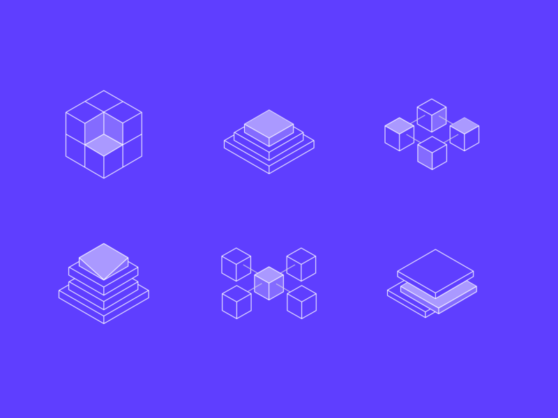Cloud product icons abstract iconset isometric platform server cloud iconography icons app mobile web fresh clean ux ui