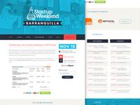 Startup Weekend Website
