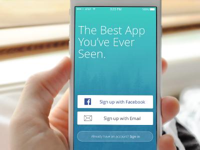 Launch Screen breathe sketch web design ui kit iphone 6 flat clean iphone ios mobile ux ui