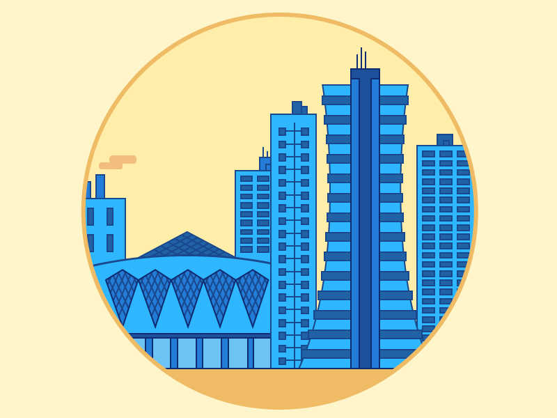 Barranquilla | Colombia city illustration clean flat colombia barranquilla stickermule sticker