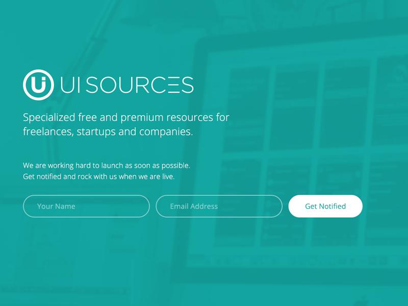 UI Sources webdesign uisources clean fresh flat splash startup ux ui freebie mobile ios