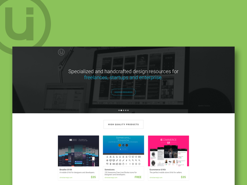 UI Sources website mobile fresh clean flash freebies ui sources web design ux ui web