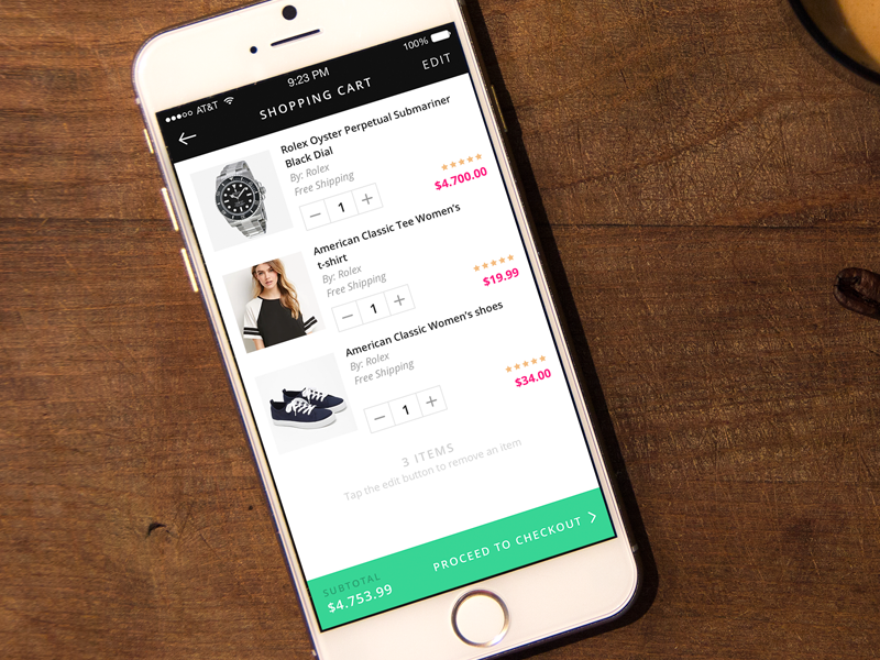 Shopping Cart shopping cart ecommerce flat clean fresh mobile design mobile ios ui sources ui ux