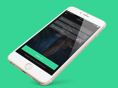 Sign Up signup clean flat fresh web design ecommerce ios mobile ui sources ux ui