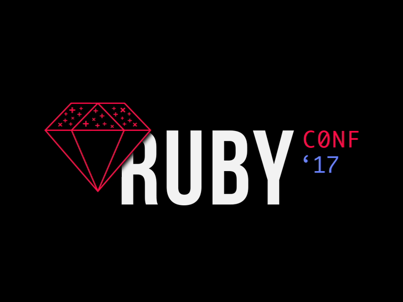 Ruby Conf Colombia clean fresh conference 2017 visual design dark colombia rubyconf ruby logo
