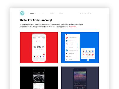 New website web design responsive portfolio website css html mobile fresh clean ui ux