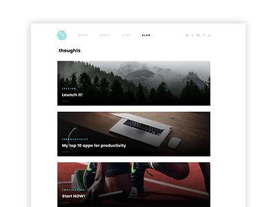 New website - Blog web design white clean fresh ui ux blog website portfolio web