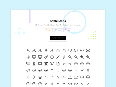 some.icons app vector clean fresh iconography icon set icons illustration design web design ux ui