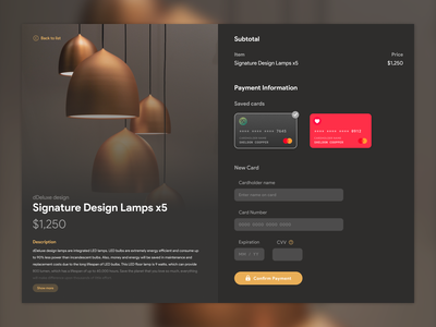 UI Experiment with Figma and Framer. dark clean app ecommerce credit card checkout form form checkout web web design ux ui