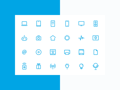 Icon set for online digital store set online-store digital web outlines icons