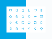 Icon set for online digital store