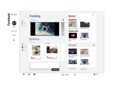 Facebook Redesign web design user experience user interface ui ux facebook rwd responsive web design