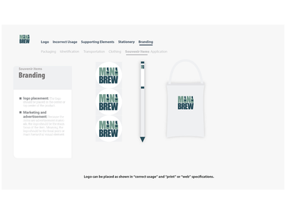 Mini Brew Style Guide logo user experience user interface brand guide style guide ux ui