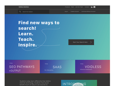 New Company Website responsive web design gradient color typography web design user experience user interface uxui