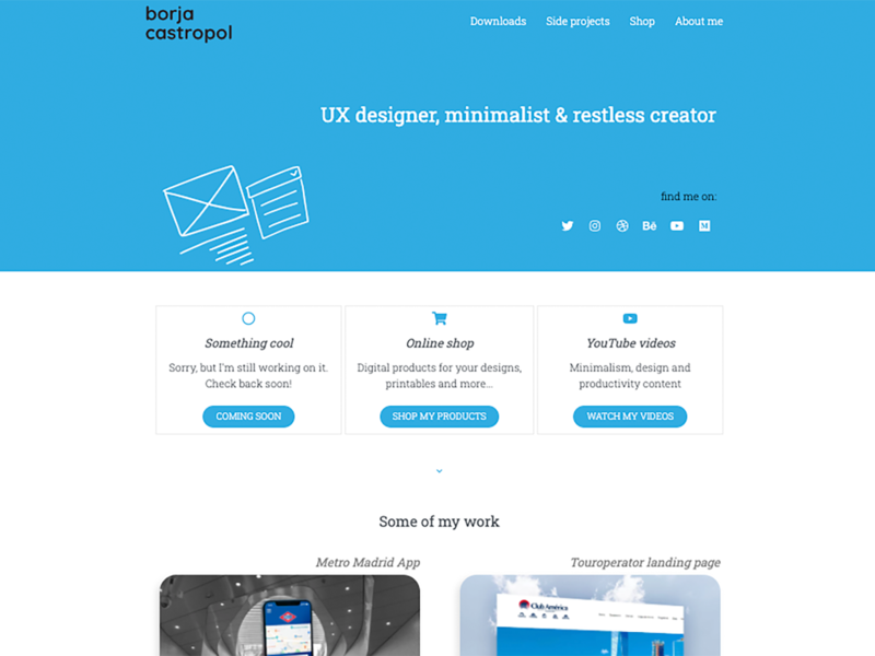 Personal website - home portfolio homepage design home screen homepage home website design ui ux ui design web design ux design