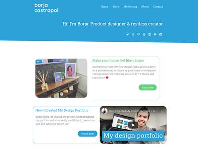 Personal site - homepage homepage website web design ui design ux design