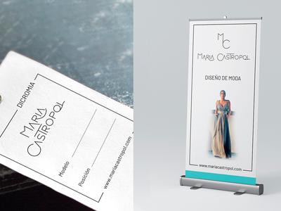 Branding Maria Castropol, fashion design slow fashion fashion branding logo design