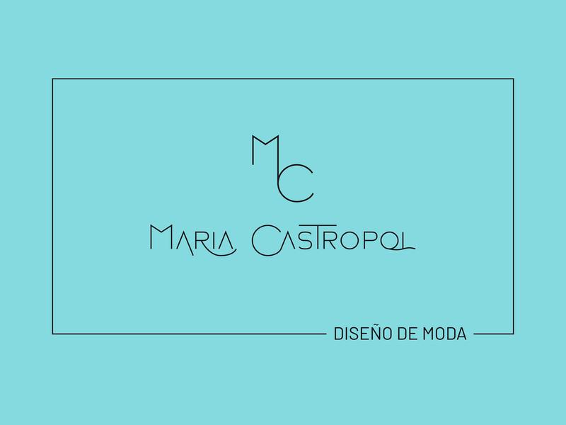 Branding Maria Castropol, fashion design branding logo design
