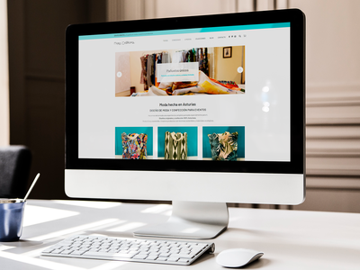 Website Maria Castropol, fashion design ui web design website fashion