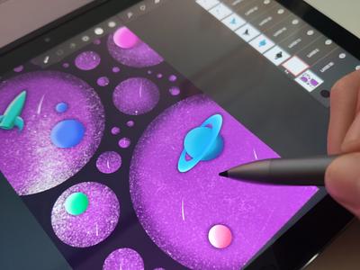 Space illustration infinitepainter procreate ipad illustration