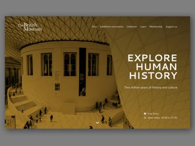 British Museum Website Concept