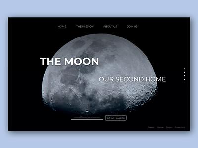 The Moon Website Concept space moon website web design ux design ux ui homepage homepage design hero