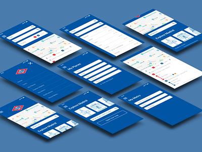 Metro Madrid UI Mobile App madrid metro interface user experience app design app uxui ui design ux design ux ui