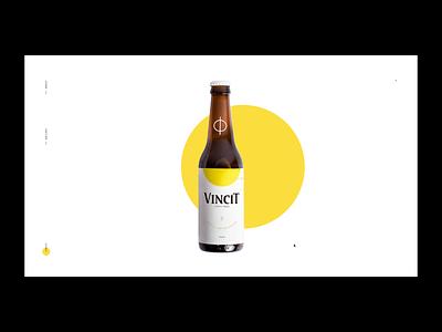 Vincit Beer - Special Edition layout inteaction interactions minimal branding graphic bottle bottle label web digital designer interactive motion interaction site interface brazil packaging portfolio design