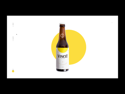 Vincit Beer - Special Edition digital web site interface ui beer website layout interaction interactive minimalism package minimalist motion minimal