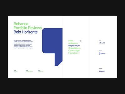 9th Bēhance Portfolio Reviews Belo Horizonte branding interaction event minimal animated animation motion ui digital designer brazil graphic brazilian design web portfolio interface
