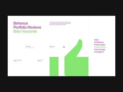 9th Bēhance Portfolio Reviews Belo Horizonte behance interaction event minimal animation motion digital designer site interface brazil graphic brazilian web portfolio design