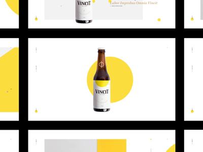 Vincit Beer - Special Edition portfolio minimal site layoutdesign design brazilian interactive interface interaction design beer web ui layout interaction
