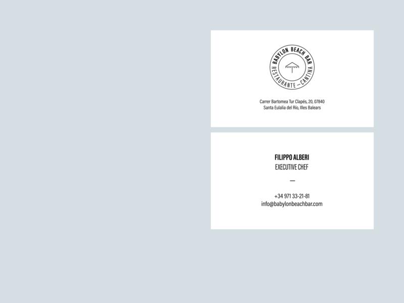 Babylon Beach Bar brand graphic design business card branding graphic logo design