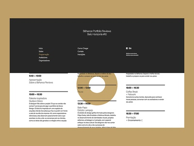 Behance Portfolio Reviews #10 - Site - Menu