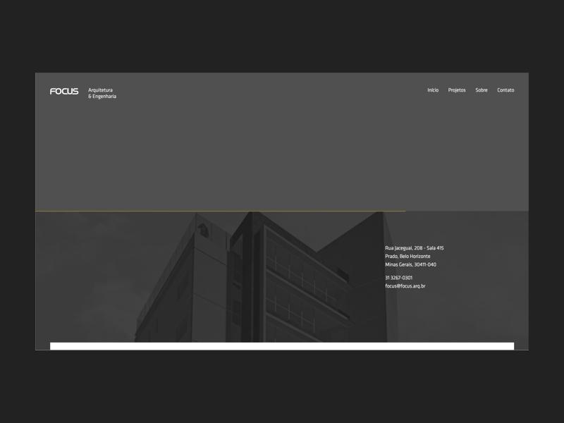 Focus | Arquitetura e Engenharia site web brazilian simplicity portfolio architecture design