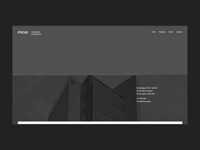 Focus   Arquitetura e Engenharia site web brazilian simplicity portfolio architecture design