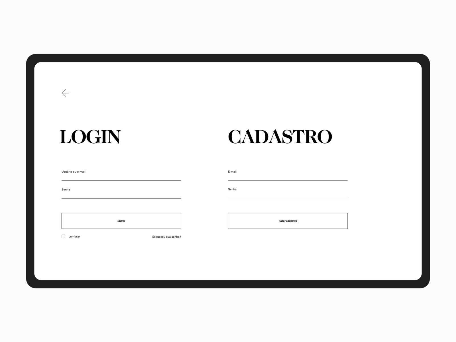 Breves Bandeiras -Auction Site countdown web interface design caslon minimal black serif font type brazilian