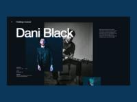 Eólico music web digital site designer design color album song music app