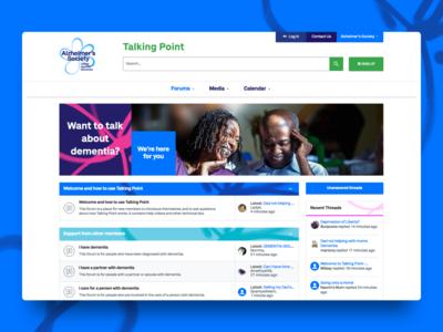 Project Highlight - Talking Point ux vector ui xenforo forum landing page branding community illustration design agency