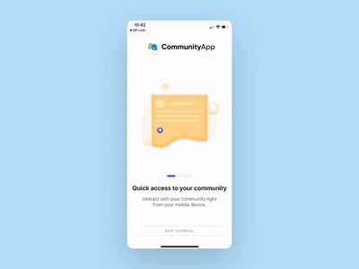 Project Highlight: Community App animation landing page forum branding mobile app design mobile ui mobile app native app push notifications mobile community illustration design agency