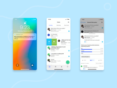 Coming Soon - Community App bts animation forum push notifications native app illustration design agency app design mobile ui mobile app mobile app community