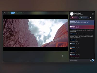 Streaming progress video broadcasting branding community design agency ui forum gaming streaming stream