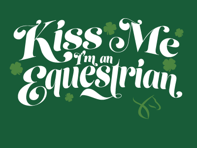 St Pat's design for US Equestrian shirt typography st. pats equestrian branding horse apparel
