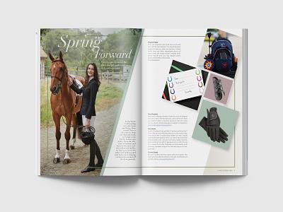 Spring Gift Spread magazine equestrian publication design