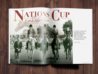 Nations Cup Feature spreads publications magazine publication design equestrian