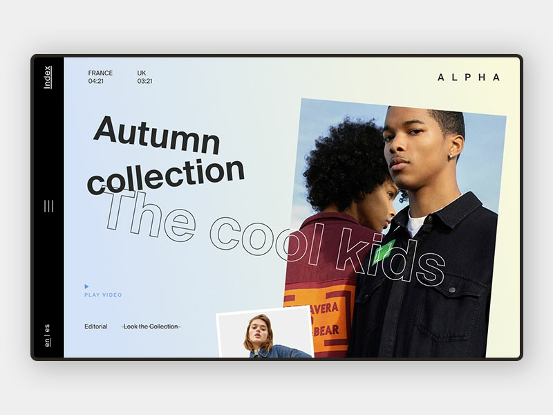 Landing Page video play shop creative userexperiance photograhy web web design website kids dailyui gradient model fashion landing landing page interface uidesign ui