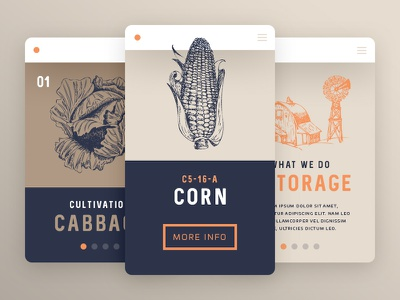 Agriculture UI vegetable vintage branding design webdesign website ui agriculture
