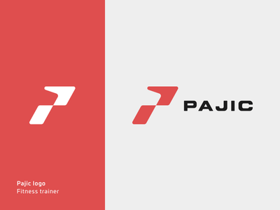 Pajic logo pajic trainer fitness mark logos logo glyph emblem branding